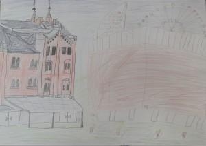 横浜の建物の絵