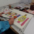 土曜クラスも油彩画制作を開始!!