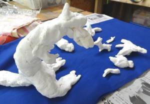だいや-紙粘土(恐竜等の動物)