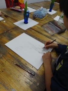 小学生制作風景