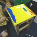 木工イスの座面作り、ペイント作業!
