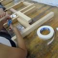 木工で椅子作り!木材の組み上げがんばりました。