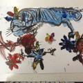 水墨画で動物の絵の模写!月曜クラス①