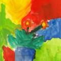 水彩絵の具を上手に使い、花を描く!!