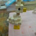 サイコロ木片で様々なものを作る!!