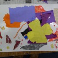 紙と毛糸をコラージュして絵を描こう!