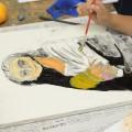 油絵具で名画の模写と静物画