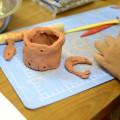 陶土で風鈴作り